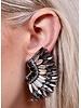 Caroline Hill Silver Femme Fan Post Earrings