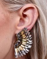 Caroline Hill Gold & Silver Femme Fan Post Earrings