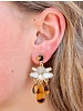 Caroline Hill Tortoise & Crystal Embellished Earrings