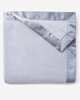 Elegant Baby Monogrammed Light Blue Fleece Blanket