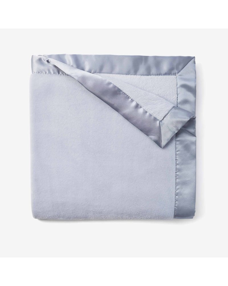 Elegant Baby Monogrammed Light Blue Fleece Blanket