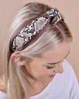 Caroline Hill Snakeskin Faux Leather Headband