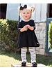 Ruffle Butts Monogrammed Black Twirl Dress