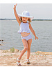 Ruffle Butts Periwinkle Seersucker Swim Hat