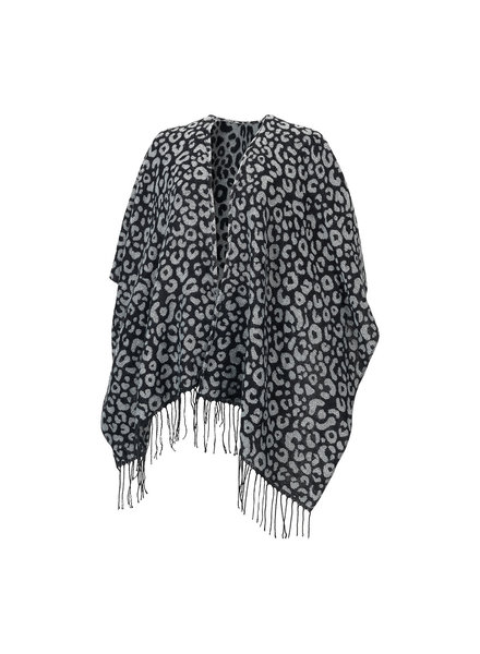 Wholesale Boutique Black Leopard Monogrammed Shawl