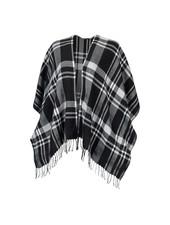 Wholesale Boutique Monogrammed Black Plaid Shawl