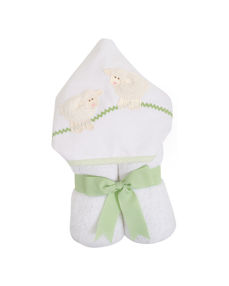 3 Marthas White Lamb Hooded Towel