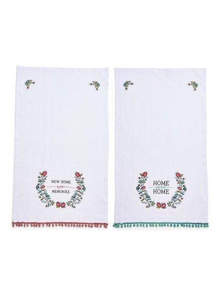 Two's Company Housewarming Pom Pom Dish Towels