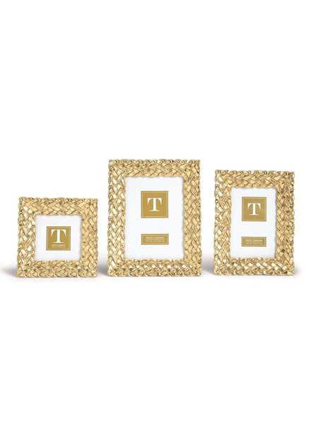 Two's Company Gold Braid Picture Frame - 3 Sizes