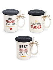 Mudpie Personalized Teacher Mug With Chalk - 3 Sayings