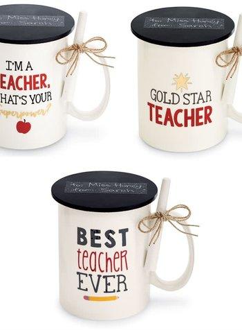 Mudpie Personalized Teacher Mug With Chalk - 3 Sayings