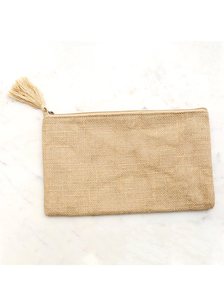 ROYAL STANDARD Natural Jute Cosmetic Bag