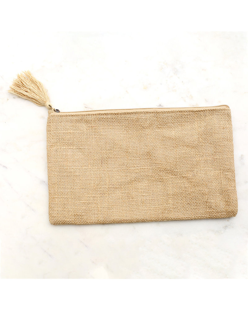 ROYAL STANDARD Monogrammed Jute Cosmetic Bag