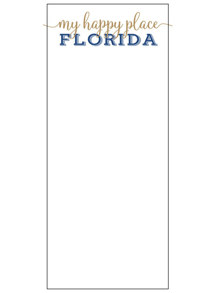 Roseanne Beck Florida My Happy Place Skinny Notepad