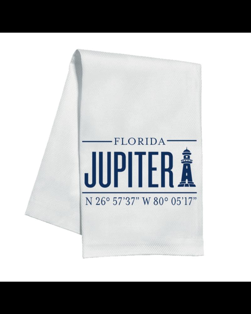 Roseanne Beck Jupiter Lighthouse Coordinates Kitchen Towel