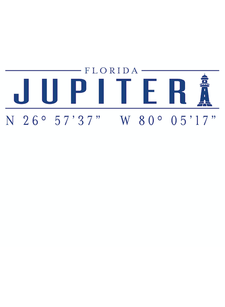 Roseanne Beck Jupiter Lighthouse Coordinates Notepad