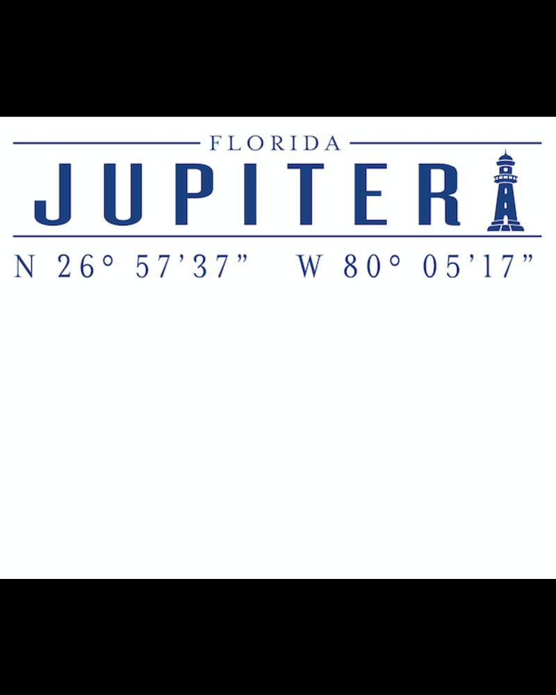 Roseanne Beck Jupiter Lighthouse Coordinates Notepad
