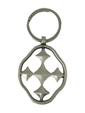 Gracewear Collection Shield of Faith Keychain - 2 Metal Choices