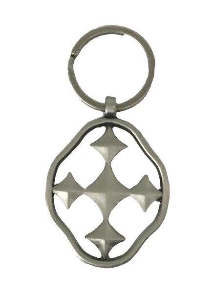 Gracewear Collection Shield of Faith Keychain - 2 Metal Choices