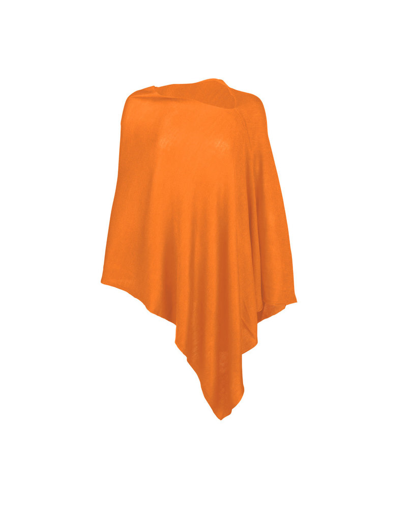 Wholesale Boutique Orange Monogrammed Poncho