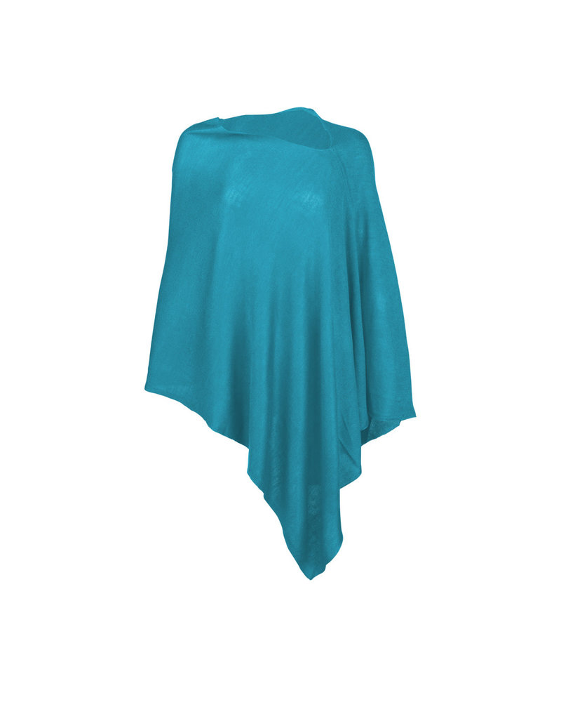 Wholesale Boutique Monogrammed Teal Poncho