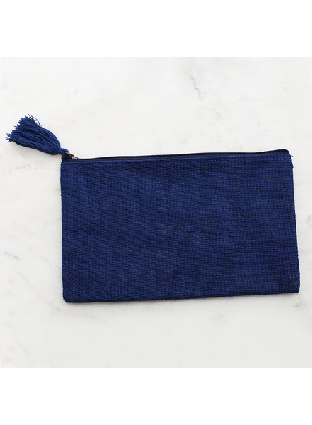ROYAL STANDARD Monogrammed Navy Blue Cosmetic Bag