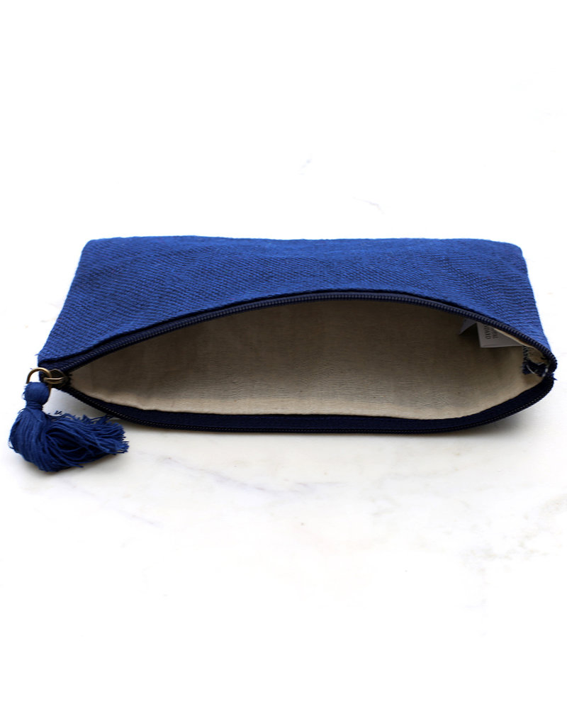 ROYAL STANDARD Monogrammed Navy Blue Cosmetic Bag