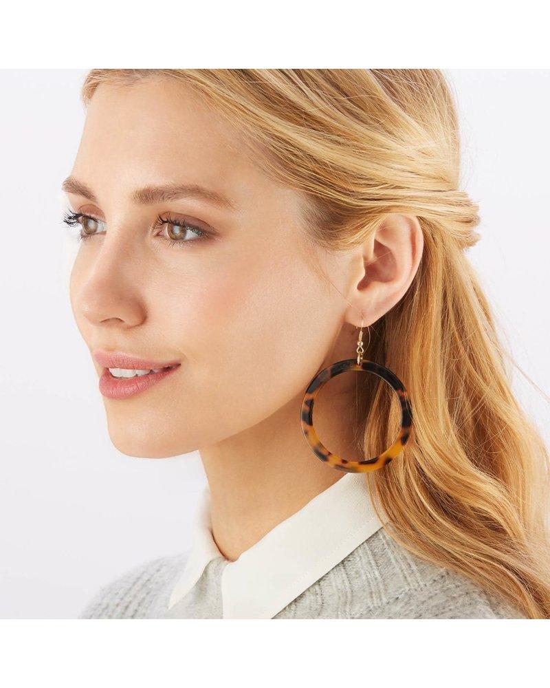 Two's Company Tortoise Earrings