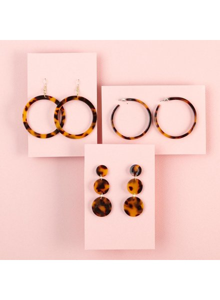 Two's Company Tortoiseshell Earrings - 3 Designs