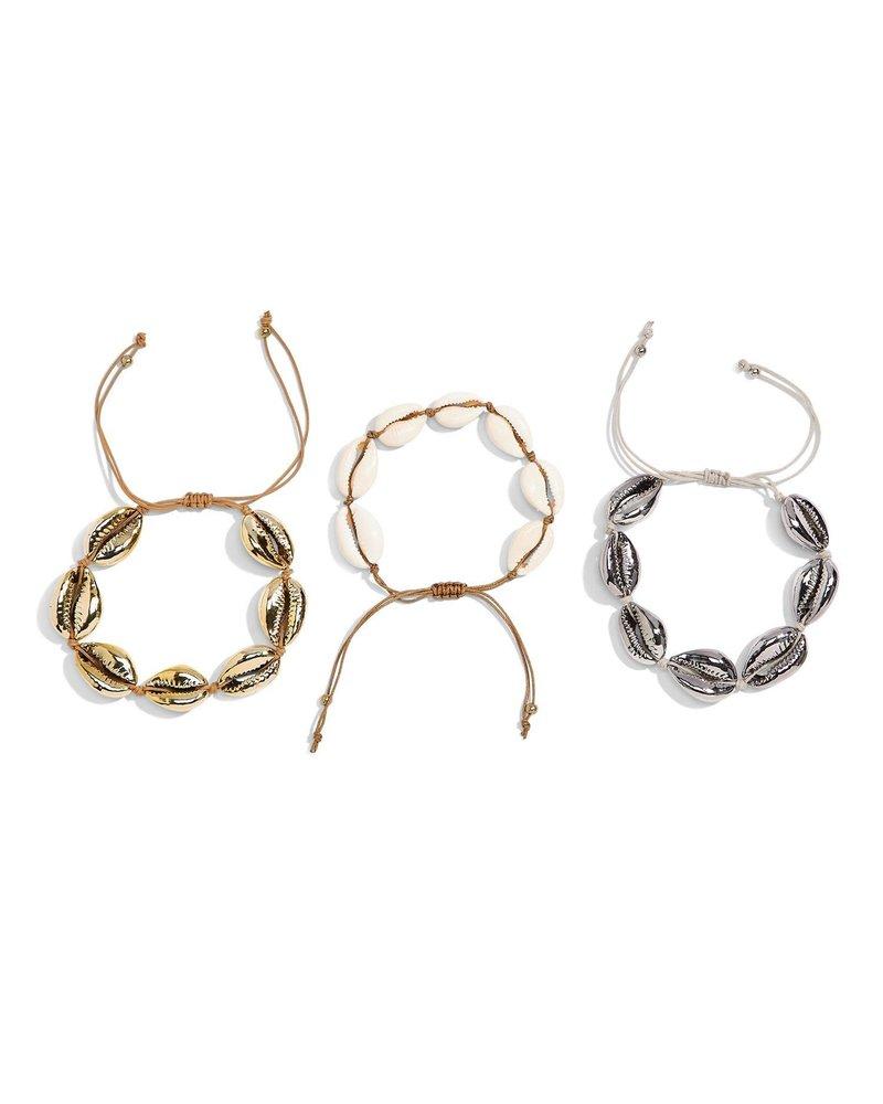 Two's Company Seashell Drawstring Bracelets