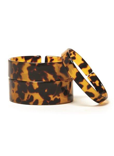 Two's Company Tortoise Cuff Bracelets - 3 Widths