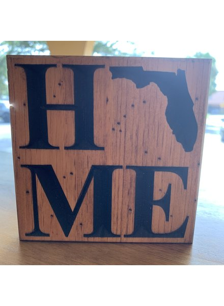 Bear Wood Company Florida Home Wood Plaque