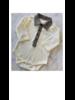 Monogrammed Herringbone Collar Bodysuit