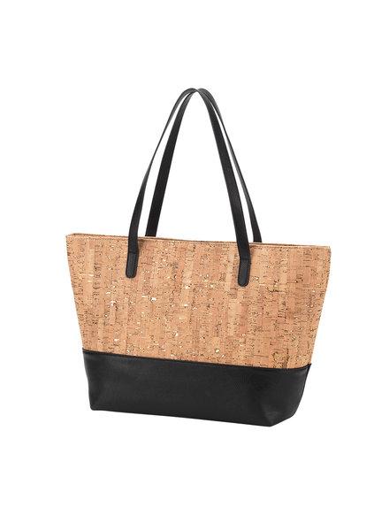 Wholesale Boutique Cork & Black Monogrammed Purse