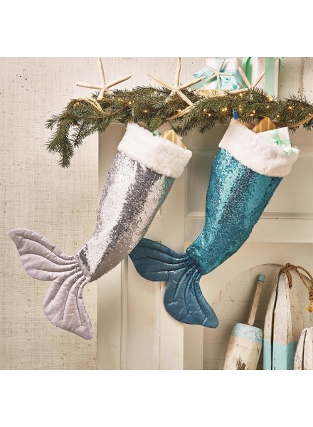 Two's Company Personalized Sequin Mermaid Stockings