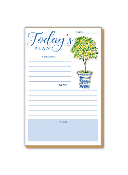 Roseanne Beck Today's Plan Lemon Topiary Notepad