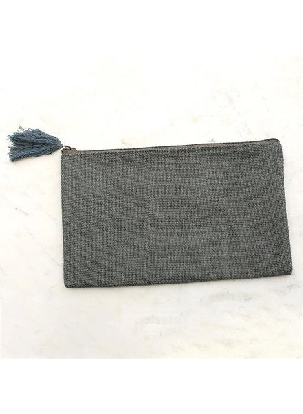 ROYAL STANDARD Monogrammed Grey Cosmetic Bag