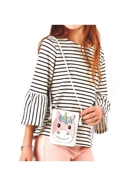 Two's Company Girls Unicorn Crossbody Bag