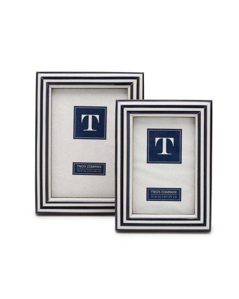 Two's Company Two's Company Nautical Striped Frame -