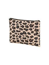 Wholesale Boutique Leopard Monogrammed Zip Pouch