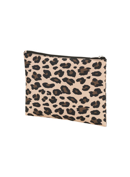 Wholesale Boutique Leopard Monogrammed Zip Pouch
