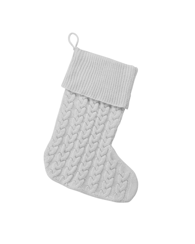 Wholesale Boutique Grey Cable Knit Stocking With Monogram