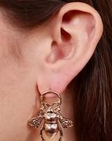 Caroline Hill Buzzing Bee Gold Stud Earring