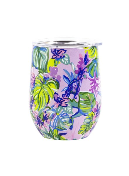 Lilly Pulitzer Lilly Stainless Steel Wine Glass - Mermaid In The Shade