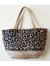1968 & Co. Leopard Jute Tote Bag
