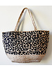 1968 & Co. Leopard Jute Basket Tote