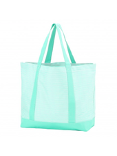 Wholesale Boutique Mint Pinstripe Tote Bag