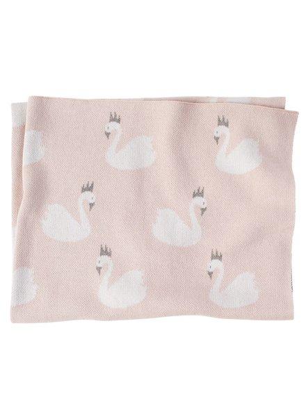 Mudpie Swan Princess Baby Blanket