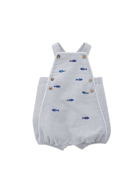 Mudpie Boys Fish Bubble Romper