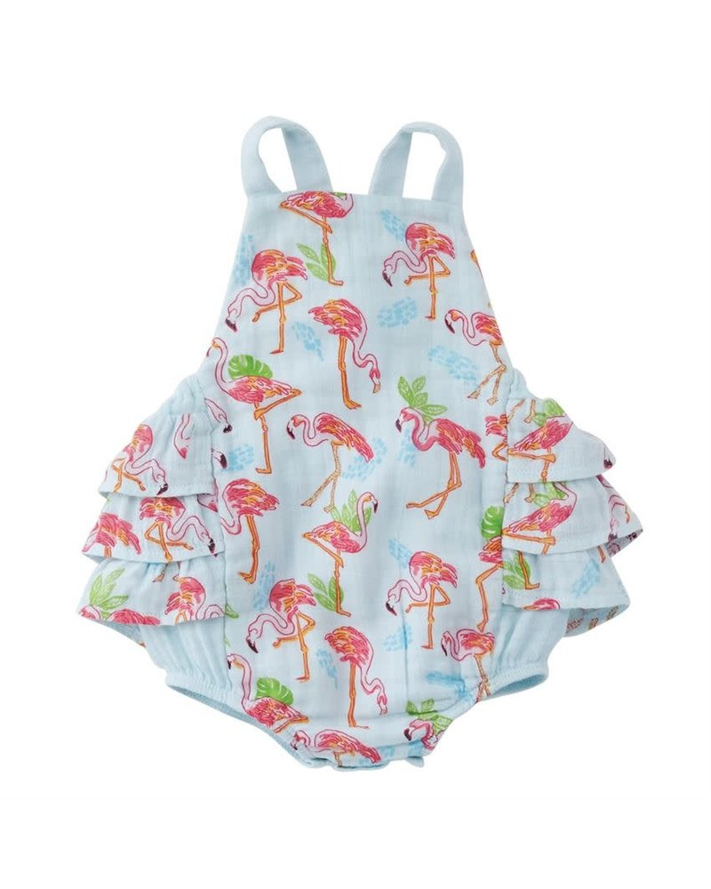 Mudpie Mudpie Flamingo Ruffle Sunsuit